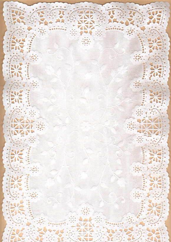 Doily - Note Paper Rectangle, 30x20cm, Pk 4