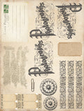 Vintage Journal Papers - 10 A4 Papers, Printed