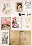 French Roses Cut & Create Images - 6 A4 Papers, Printed