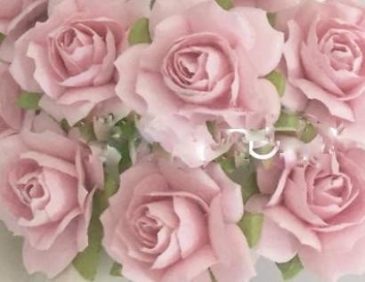 Rose - Pink Puffy Paper - 3cm - Posy of 6