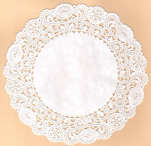 Circle Paper Lace Doily, 3 sizes, Pks of 4 doilies