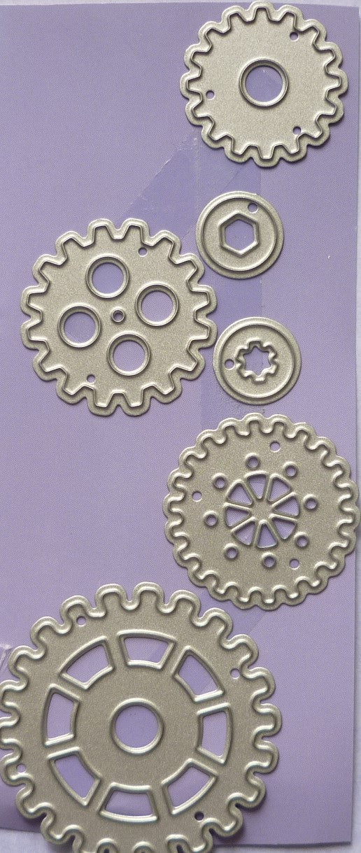Cogs & Gears, 6 Dies differemt styles & sizes