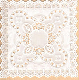 Doily - square, 2 sizes 20cm & 12cm, Pk of 4