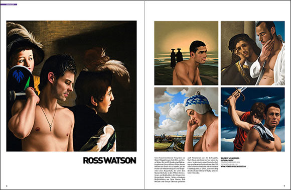 MÄNNER Magazine Germany February 2009 Issue has a double page feature on Ross Watson.