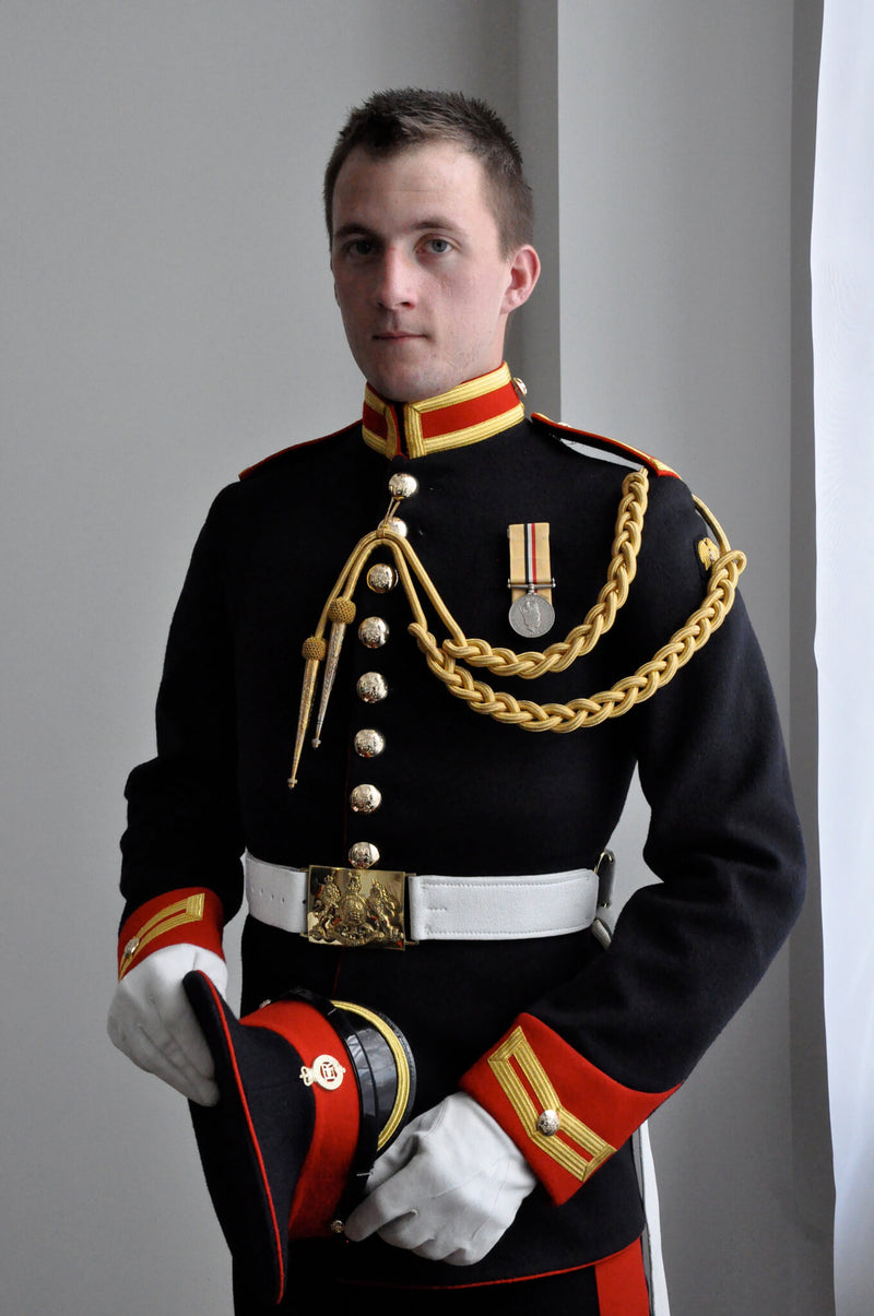 Ross Watson photographic portrait of Lance Corporal James Wharton in formal uniform