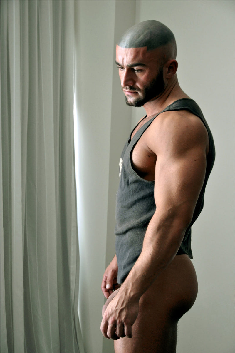 Ross Watson Photographic portrait of Francois Sagat wearing a singlet