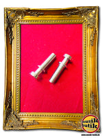Faber Vintage style tailpiece studs, gloss nickel, INCH