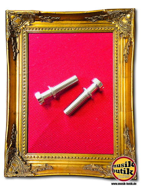 Faber Vintage style tailpiece studs, gloss nickel, METRIC