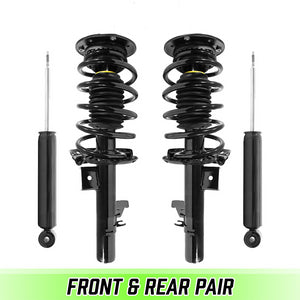 Front & Rear Quick Complete Struts & Coil Springs for 2007-2016 Volvo S80