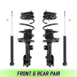 Front Quick Complete Struts w/ Springs & Rear shocks for 2006-2011 Kia Rio