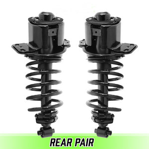 Rear Pair Complete Struts & Coil Springs for 2005-2007 Ford Five Hundred FWD