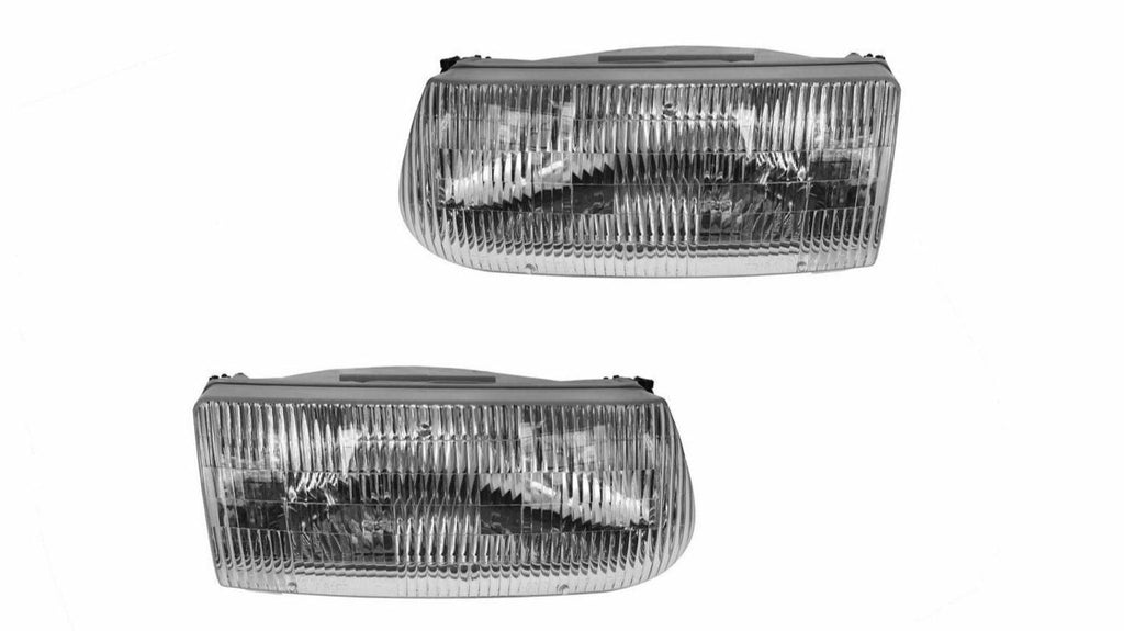 Headlights Headlamps Left & Right Pair Set for 95-01 Ford Explorer Mountaineer