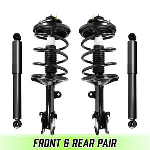 Front Quick Complete Struts w/ Springs & Rear shocks for 1999-2004 Honda Odyssey
