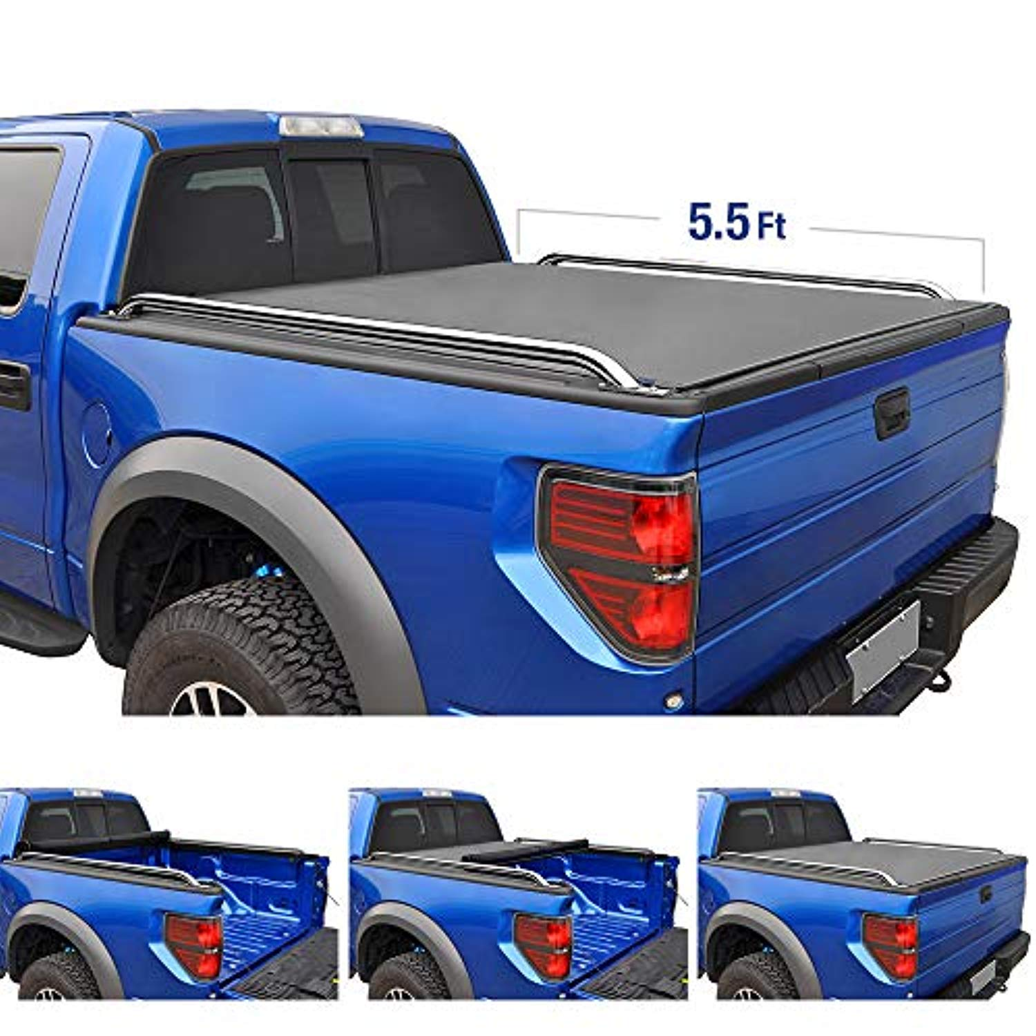 RoLock Low Profile Roll-Up Truck Bed Tonneau Cover 2004-2015 Nissan Titan | Fleetside 5.5' Bed | For models with or without the Utili-track System