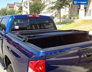 TRI-FOLD Truck Bed Tonneau Cover 2007-2013 Toyota Tundra | Fleetside 5.5' Bed | For models with or without the Deckrail System