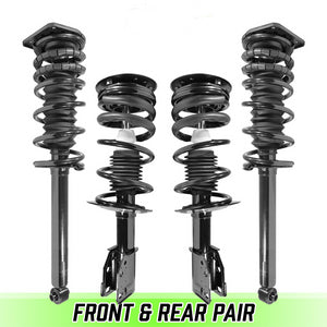 Front & Rear Quick Complete Struts & Coil Springs for 1999-2005 Pontiac Sunfire