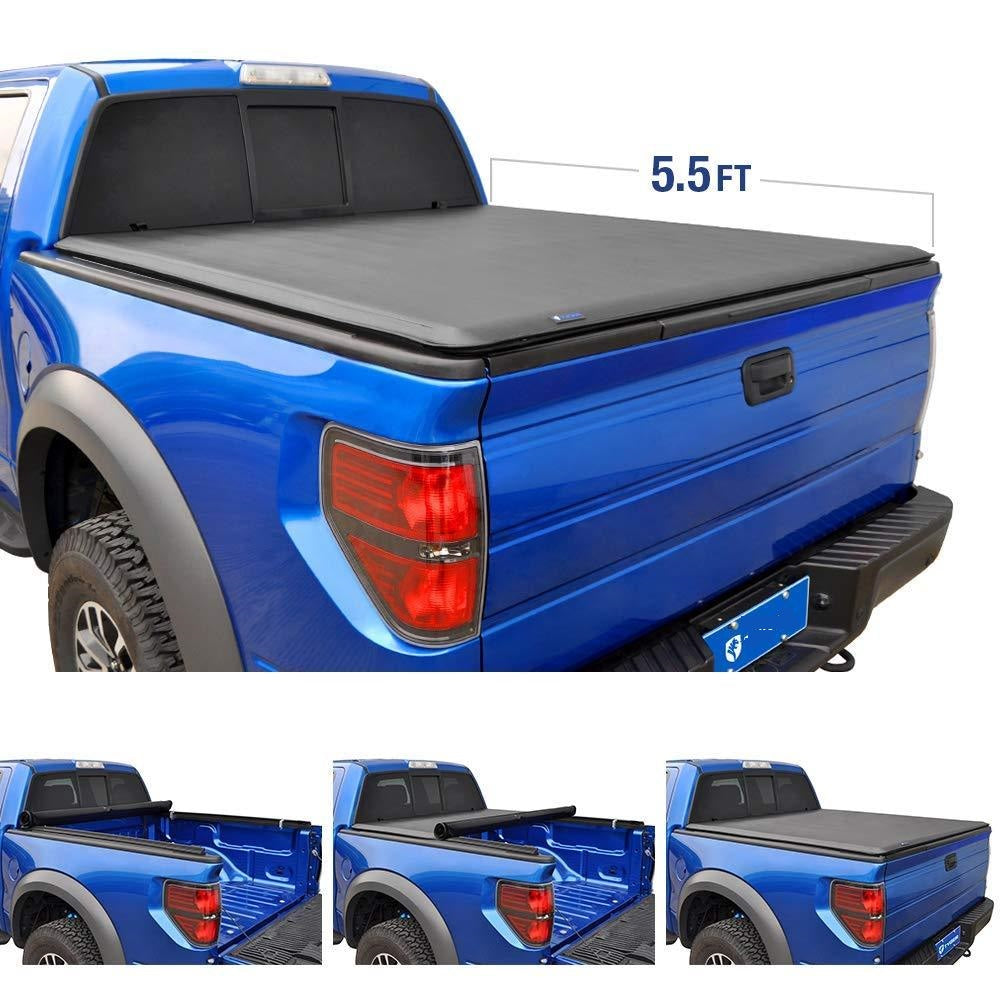 15-18 TG-BC1F9029 Premium Roll & Lock Truck Bed Tonneau Cover TSA Ford F-150 | 5.5' Bed