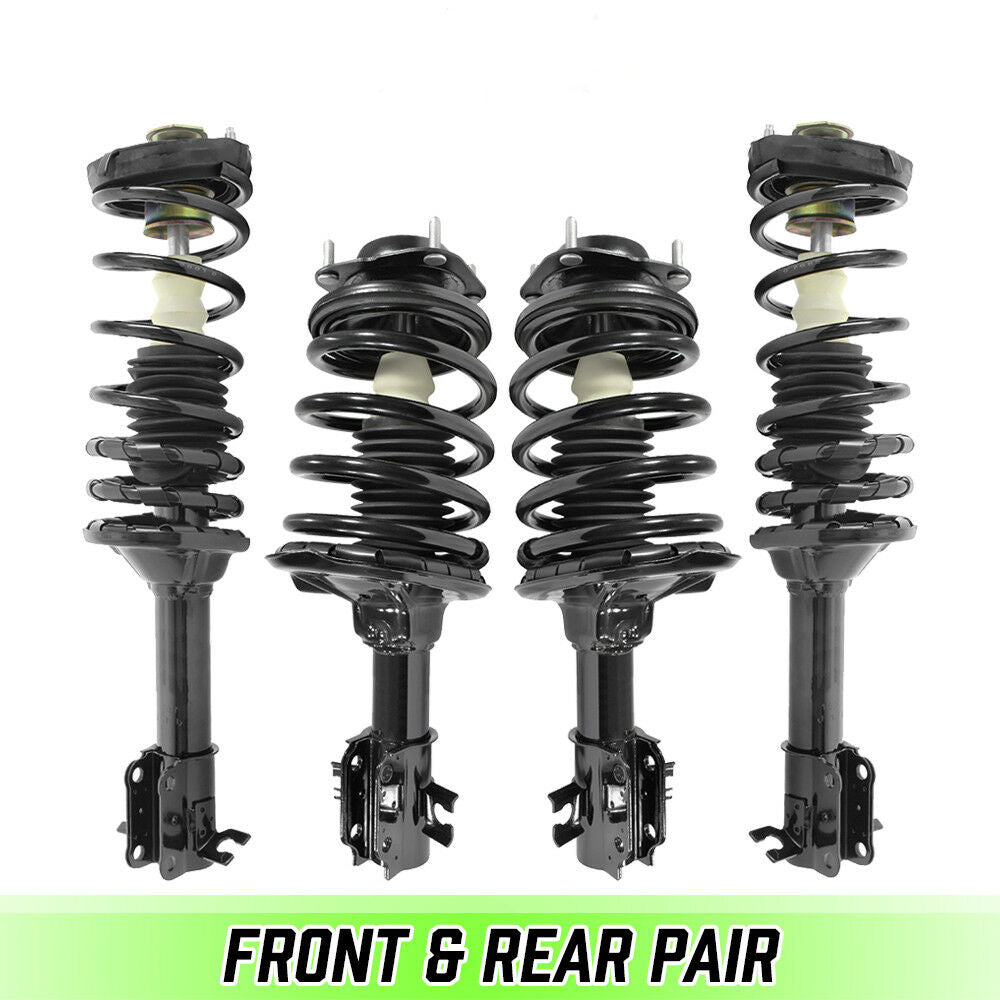 Front & Rear Quick Complete Struts & Coil Springs for 1990-1994 Mazda Protégé