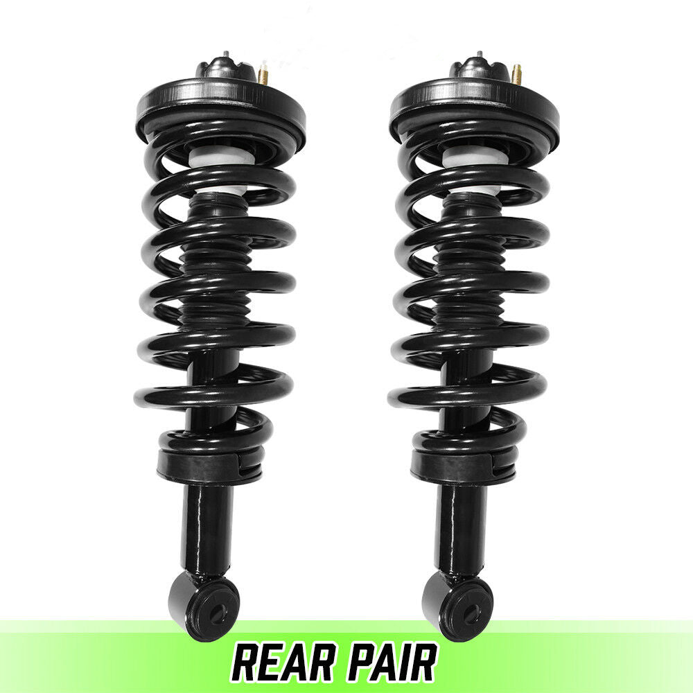 Rear Pair Complete Struts & Coil Springs for 2003 2004 2005 2006 Ford Expedition