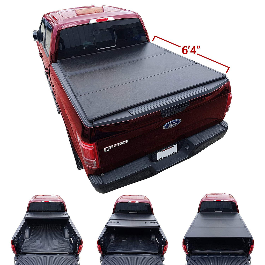 5.5ft Bed Rubber Sealed Lock /& Roll Tonneau Cover fits 09-17 Dodge Ram 1500