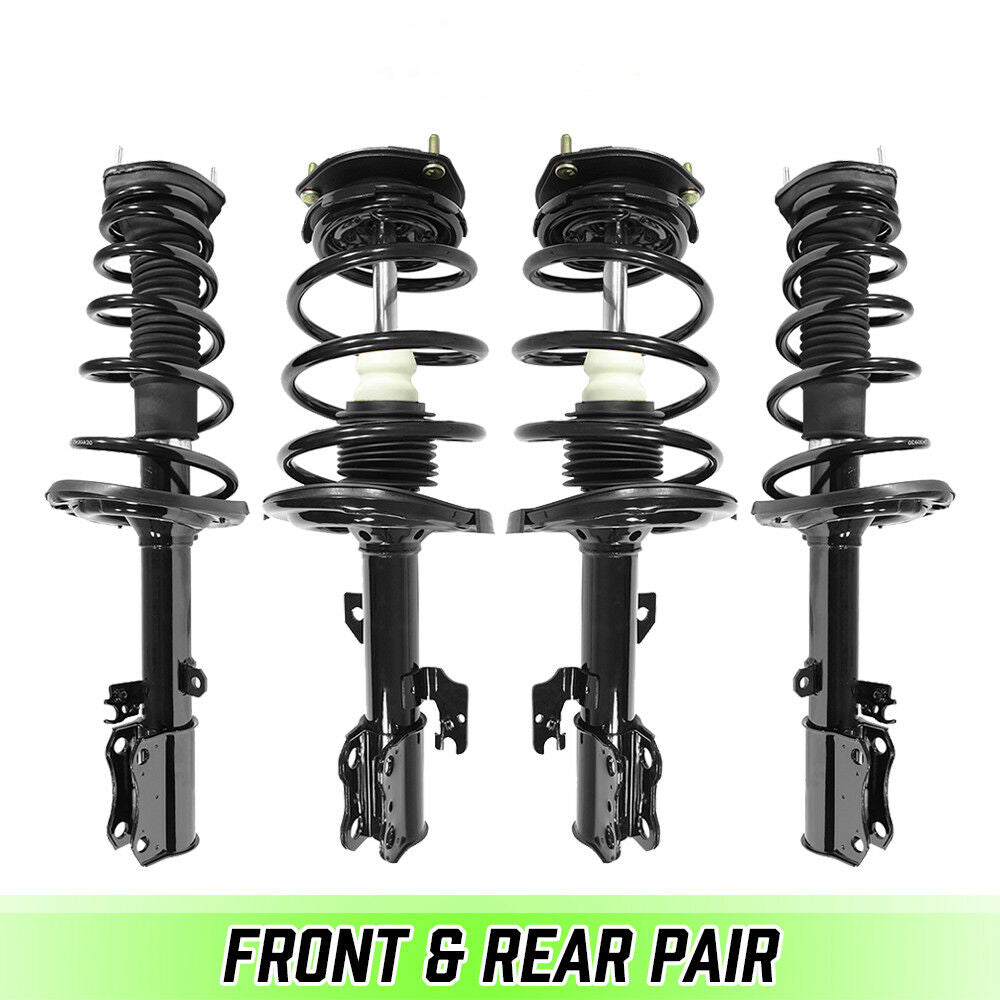 Front & Rear Quick Complete Strut & Coil Springs for 2004 2005 2006 Toyota Camry