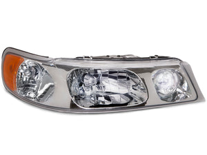 Headlights Halogen Chrome Replacement Right Fits 1998-2002 Lincoln Town Car