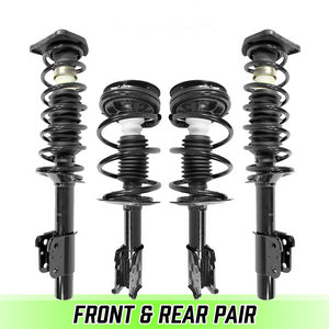 Front & Rear Quick Complete Struts & Coil Springs for 1998-2003 Chevy Malibu