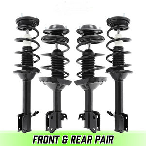 Front & Rear Quick Complete Struts & Coil Springs for 2004-2005 Subaru Forester