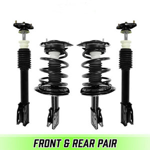 Front & Rear Quick Complete Struts & Coil Springs for 1991-1993 Cadillac Deville