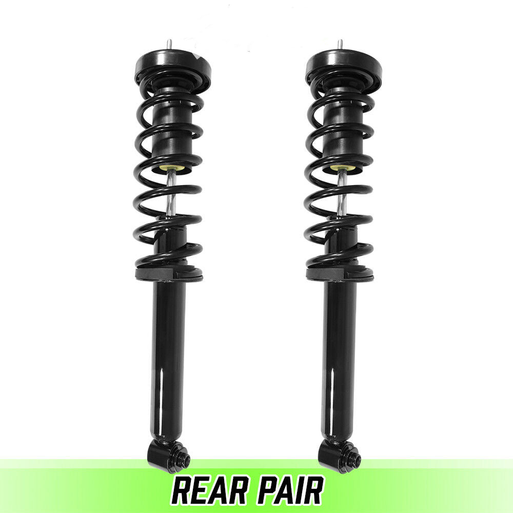Rear Pair Quick Complete Struts & Coil Springs for 2001-2003 BMW 525i E39 Sedan