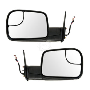 Power Heated Signal Towing Flip-Up Black Textured Mirror Pair for 05-15 Tacoma