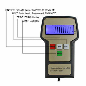 220lbs Digital Electronic Refrigerant Charging Weight Scale for HVAC Black New
