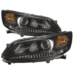 Headlight Set Left Right Side Assembly Replacement Fits Honda Accord Sedan 13-15