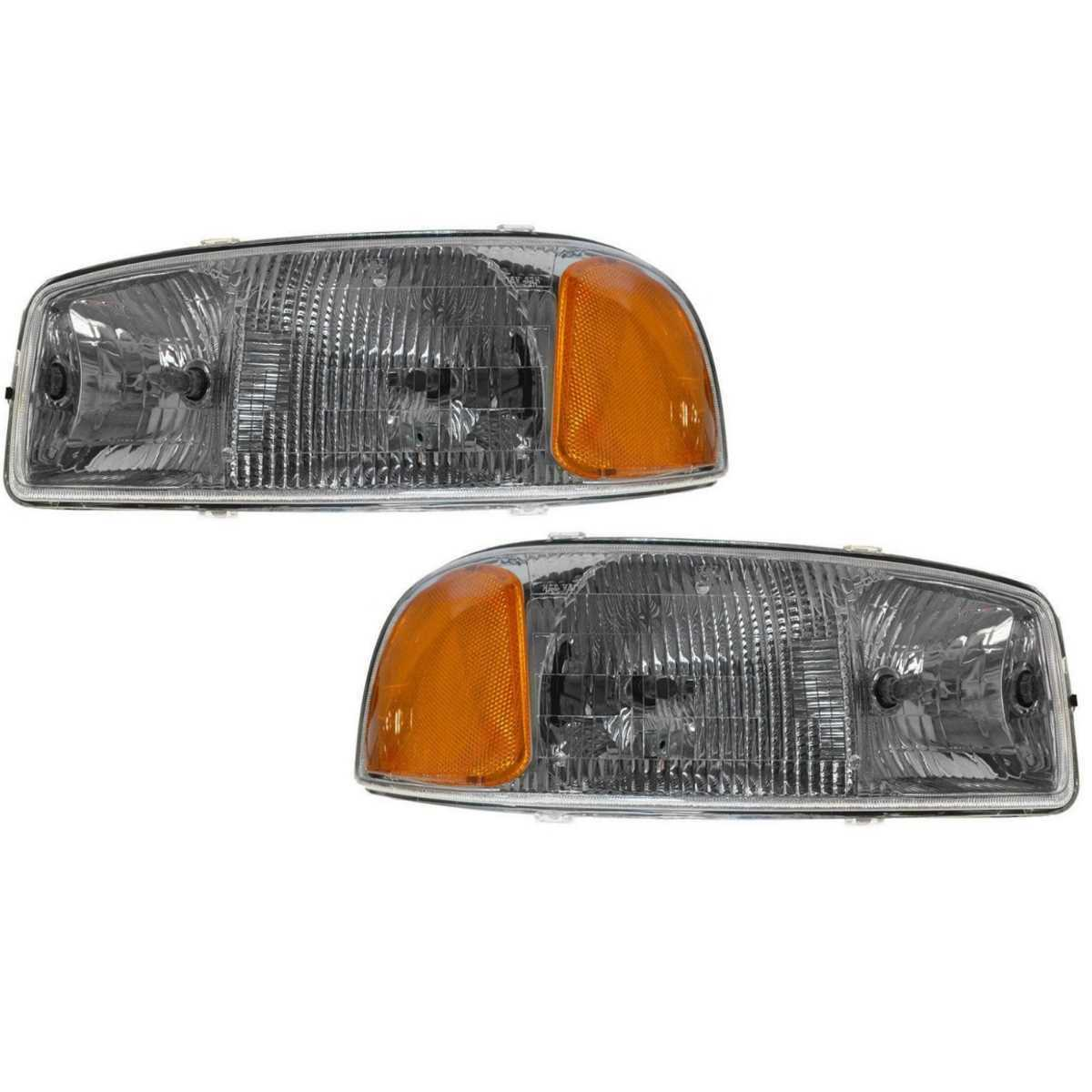 Pair of Front Left and Right Headlight Assemblies fits GMC Sierra Yukon