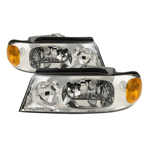 Fits Beaver Motor Coach Contessa 2002-2005 RV Left and Right Headlights Pair