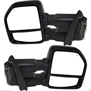 For-15-18-Ford-F150-Chrome-Power-Heated-Turn-Signal-Towing-Side-Mirrors-8-Pin