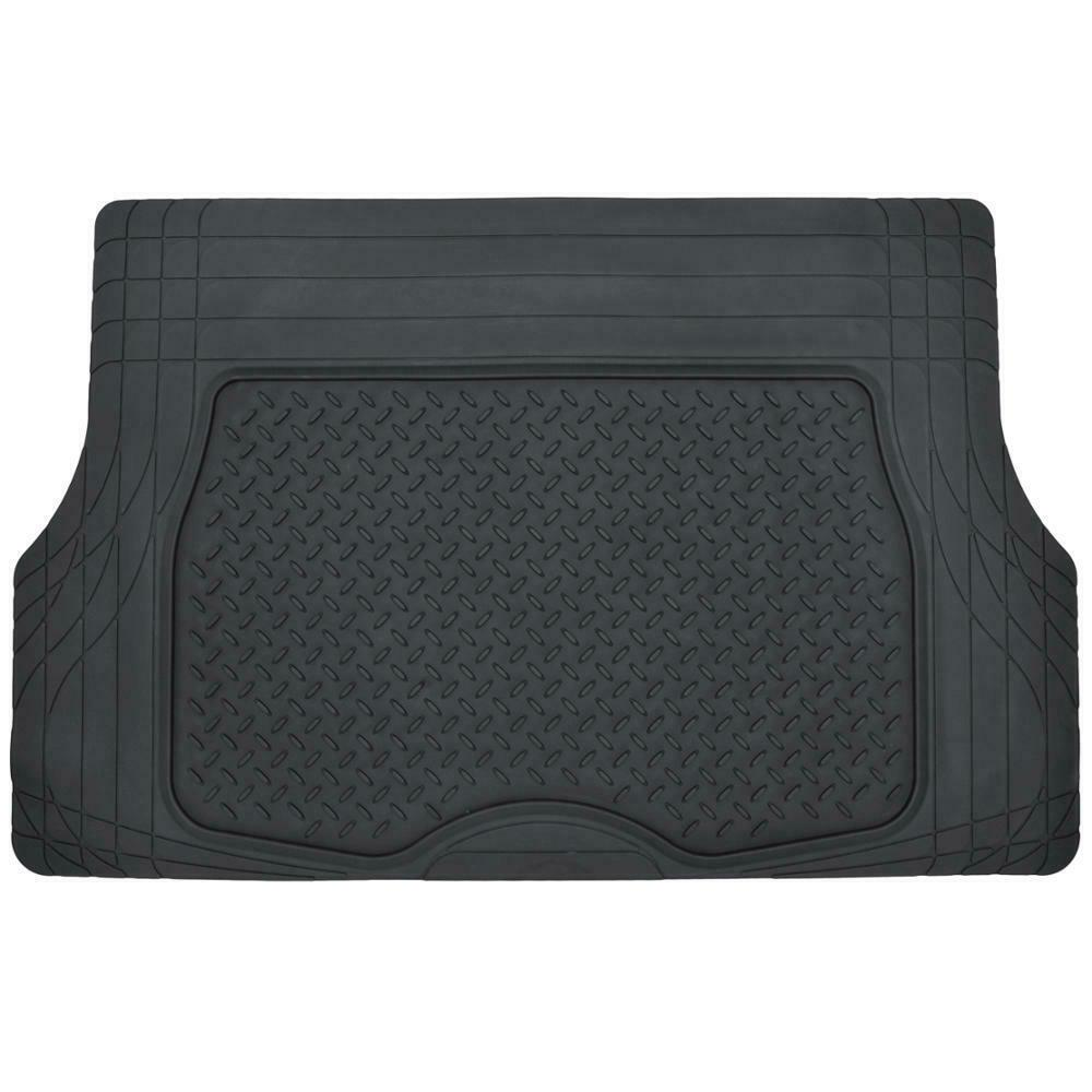 4pc All Weather Floor Mats & Cargo Set - Black Tough Rubber MOTORTREND Deep Dish