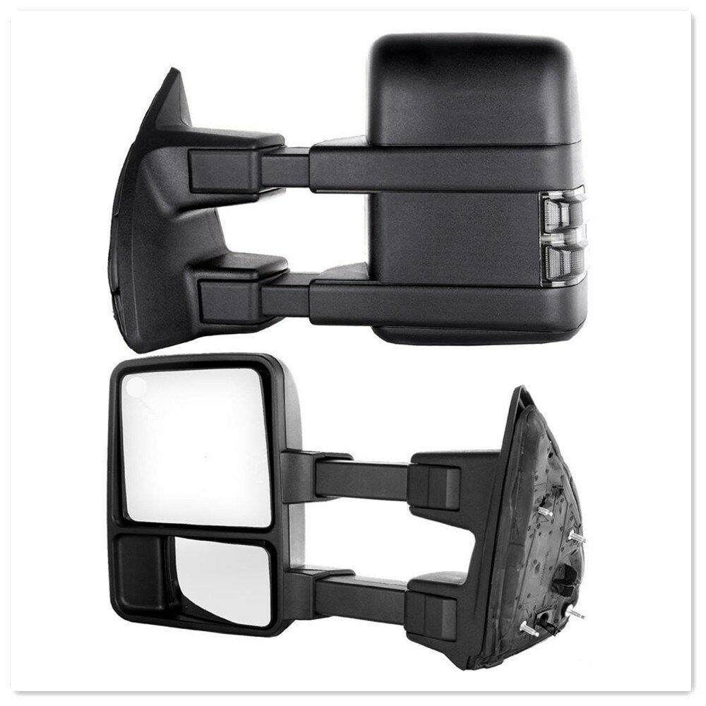 For 08-16 Ford F250-F550 SuperDuty Power+Heated+Smoke+Signal Arrow Towing Mirror