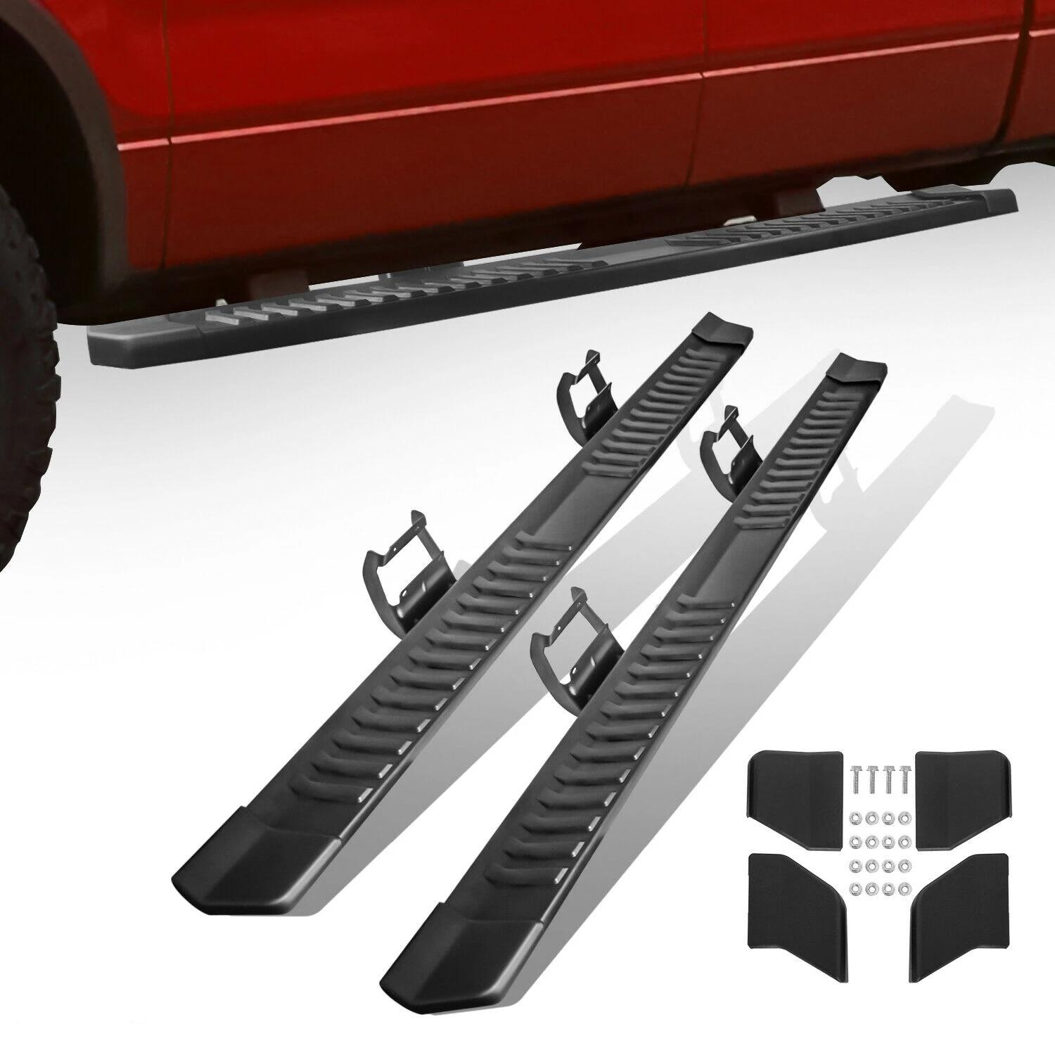 For 15-20 Ford F150 Crew CAB Aluminum Nerf Bars Running Board Side Step Set of 2