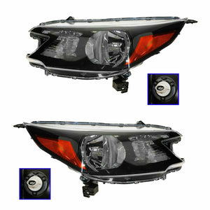 Headlight Headlamp Left LH & Right RH Pair Set for 12-13 Honda CR-V