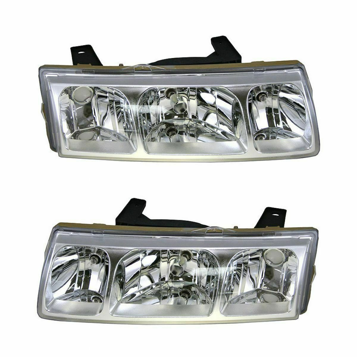 Front Headlights Headlamps Lights Left LH & Right RH Pair Set for 05 Saturn Vue