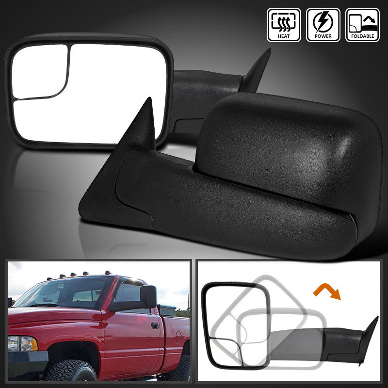 Power Heated+Flip Up Fold Tow Mirror For 98-01 Dodge Ram 1500 98-02 2500 3500