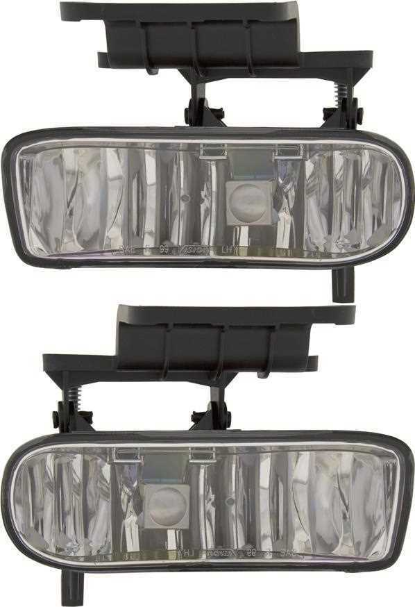 Set of 2 Clear Bumper Fog Lights fits Chevrolet Suburban Tahoe or Silverado