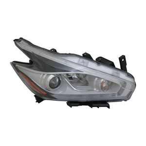 Headlight Halogen Type Passenger CAPA Fits 15-16 Nissan Murano S SV SL Model