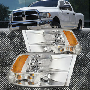 Headlights Quad Chrome Performance Lens Fits 09-18 Ram 1500/11-18 2500 3500