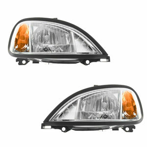 Headlights Headlamps Left & Right Pair Set for 04-13 Freightliner Columbia