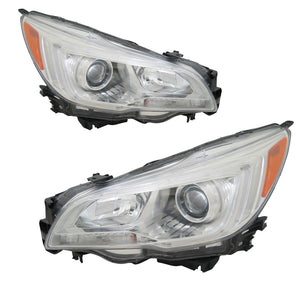 Headlights Halogen Left Right Pair CAPA FIts 2015-2017 Subaru Legacy/Outback