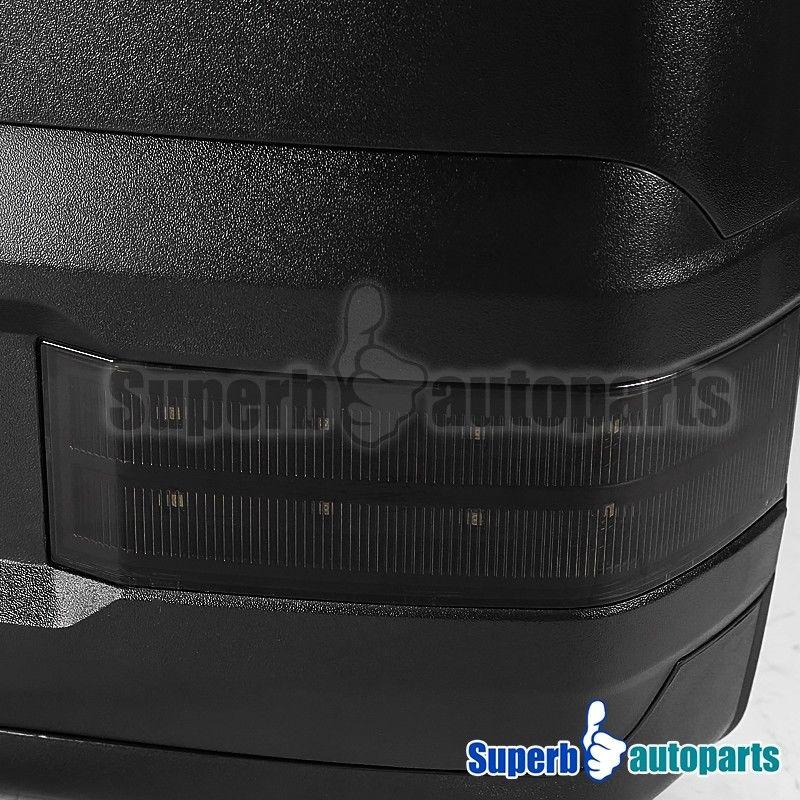 07-13 Silverado Sierra Facelift Smoke LED Signal Tow Extend Power Heated Mirrors