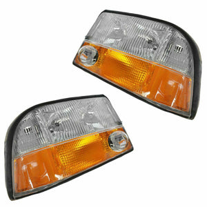 Headlights Headlamps w/ Fog Lights LH & RH Pair Set for GMC Jimmy S-15 Truck