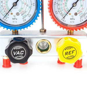 4-Way Valve Refrigeration Air Conditioning A/C Diagnostic Manifold Gauge R410